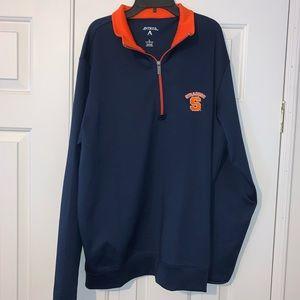 EUC Syracuse 1/4 Zip Pullover Top Size L.